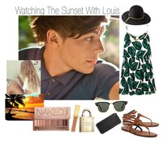 """""""Watching The Sunset With Louis (Requested)♡"""" by one-direction-outfitsxxx ❤ liked on Polyvore featuring Topshop, Valentino, Urban Decay, AERIN, Ray-Ban, Coach and Lanvin"""
