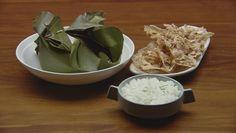Sour Chicken Curry with Rempeyek Peanut Crackers Recipe - [Masterchef AU - Kaffir Lime Rice, Lamb Koftas, Masterchef Recipes, Onion Jam, Gluten Free Banana, Thing 1, Best Dishes, Coriander, Crackers