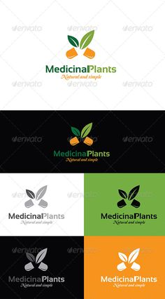 Medicinal plants logo — Photoshop PSD #medicinal #eco • Available here → https://graphicriver.net/item/medicinal-plants-logo/5499900?ref=pxcr