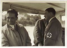 Hess and Hitler. Always a close relationship, but it gradually cooled as the wretched Martin Bormann intrigued against Hess. Hitler also grew sick and tired of Ilse Hess and was not fond of her. That was another strike against him. Hess' diet and his propensity to bring his own food to Hitler's table was another nail in his coffin. (via putschgirl)