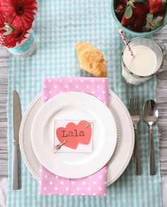 The Shabby Creek Cottage - a decorating blog: Valentine's Day Tablescape (and a special link party!) from @Gina @ Shabby Creek Cottage