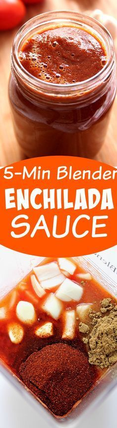 Homemade Enchilada Sauce - enchilada sauce made from scratch in a blender, with just 7 ingredients is my new favorite diy recipe. I will never buy it in a can again! Sauce Enchilada, Recipes With Enchilada Sauce, Homemade Enchilada Sauce, Homemade Enchiladas, Homemade Sauce, Sauce Recipes, Enchilida Sauce Recipe, Homemade Butter, Homemade Recipe