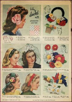 1940s ad for hair accessories