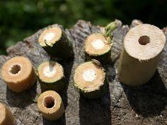Lav dine egne perler af grene fra hyldetræet