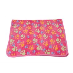 VWH Pet Dog Cat Puppy Kitten Soft Blanket Doggy Warm Bed Mat Paw Print Cushion Pink Small >>> Click image for more details. (This is an affiliate link and I receive a commission for the sales)