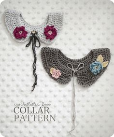 free pattern for crocheted girls' collar...