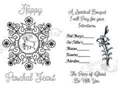 First Communion Spiritual Bouquet Card Printable by