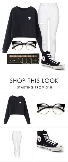"""Untitled #2058"" by ayannap ❤ liked on Polyvore featuring Chicnova Fashion, Topshop and Converse"