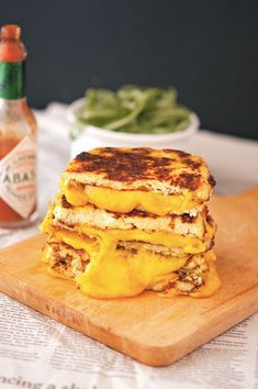 Cauliflower Crust Grilled Cheese (maybe an organic egg with onion and spinach instead of cheese. Yum!)