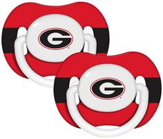 Georgia Bulldogs Baby Pacifier