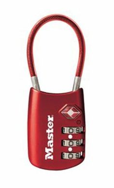 Brilliant! Master Lock 4688D TSA Accepted Cable Luggage Lock-Super Pack-2-Pack in Assorted Colors, Master Lock http://www.amazon.com/dp/B00QPEXMTG/ref=cm_sw_r_pi_dp_gp4Nub05BVE4H