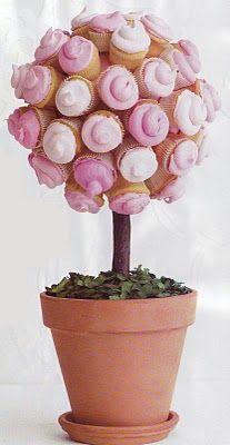 Cupcake Topiary Centerpiece
