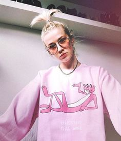 Image of Pink Stress Less Chill More Sweater