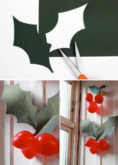 holly balloon berries