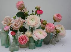 Victorian glass filled with beautiful blooms.