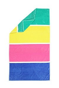 CHUNKY STRIPE BEACH TOWEL