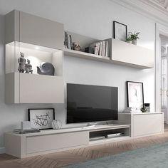 Code: 4364830779 units in living room interior design Living Room Wall Units, Living Room Tv Unit Designs, Ikea Living Room, Interior Design Living Room, Ikea Bedroom, Living Rooms, Kitchen Interior, Tv Wanddekor, Tv Unit Furniture