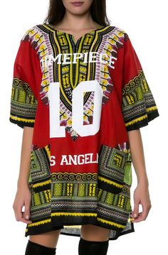 The DMPC LA Dashiki in Red Excess Hype - Streetwear deals, coupons and more