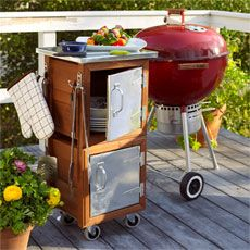 DIY grill station & other yard projects Ideas Terraza, Wooden Planter Boxes, Backyard Buildings, Outdoor Cooking, Outdoor Kitchens, Outdoor Grilling, Style Deco, Outdoor Living, Outdoor Decor
