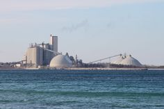 Cement Plant on Lake Michigan Charlevoix MI Jan, 2013 Lake Michigan, Cement, Industrial, Country, Building, Plants, Travel, Vintage, Viajes