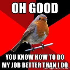 Retail Robin via Meme Generator