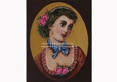 Victorian beauty Hand painted Available at www.romanticdecorativeart.co.uk