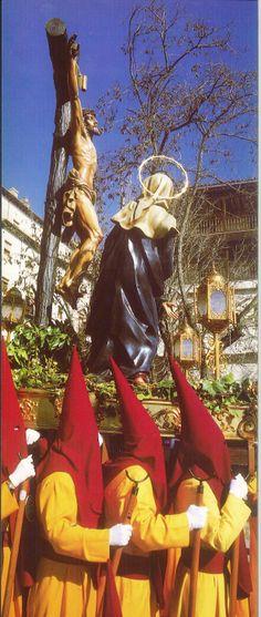 Semana Santa 1999 Hermandad del Santísimo Cristo de la Agonía Fotografía de Ramón Herráiz Postal editada por Tomebamba Ediciones en la Semana Santa de 1999 #SemanaSanta #Cuenca #HermandadCristoAgonia