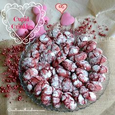 Easy Cupid Crinkles.  With only 5 ingredients these cookies are quick and easy. #valentines