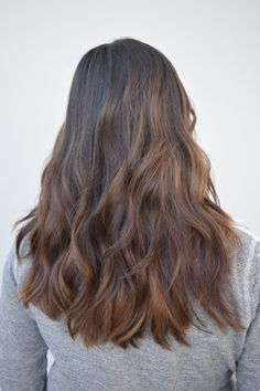 Ithaca New York Hair stylist at Karma Salon in Ithaca Balayage hair color natural light brown highlights