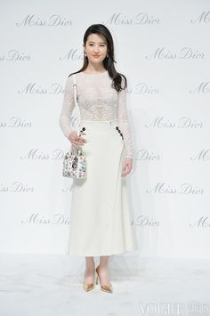 Liu Yi Fei 劉亦菲 - Miss Dior exhibition opening in Beijing, China - April 29, 2015