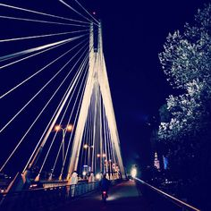 Cudowna Warszawa. Uwielbiam #most #świętokrzyski #love #travel #photography #warszawa #warsaw #poland #Polska #night #noc #city #miasto #capitol