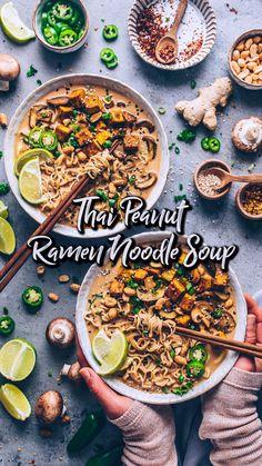 Greek Recipes, Indian Food Recipes, Asian Recipes, Vegetarian Recipes, Cooking Recipes, Healthy Recipes, Ramen Noodle Soup, Ramen Noodles, Vegan Noodle Soup