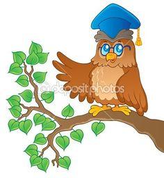 imagem de tema professor coruja 1 — Ilustração de Stock #12202676