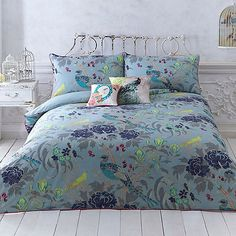 Butterfly Home by Matthew Williamson Turquoise 'Magnolia Peacock' bedding set | Debenhams