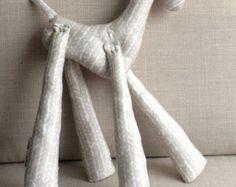 Organic Cotton Oatmeal Stuffed Giraffe by LolaMarieDesigns on Etsy