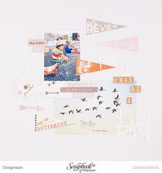 #papercraft #scrapbook #layout. mojosanti ♥ Sandra Dietrich: Se siente libre como un pájaro me libro de recuerdos del 2014 con el I Taller Novemberkit