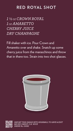 Red Royal Shot, created with Highball.