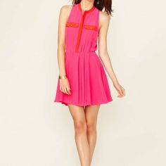 The Letter Pleated Mini Dress