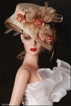 Look at the detail on this Barbie hat!  Awesome!
