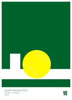 Tennis poster for London Olympics