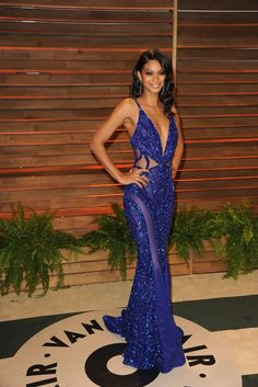 "Chanel Iman in Zuhair Murad. ♡♥♡♥ Thanks, Pinterest Pinners, for stopping by, viewing, re-pinning, & following my boards. Have a beautiful day! ^..^ and ""Feel free to share on Pinterest ^..^ #topfashion #fashionandclothingblog *•.¸♡¸.•**•.¸ ┊ ┊ ┊ ┊ ┊ ┊"