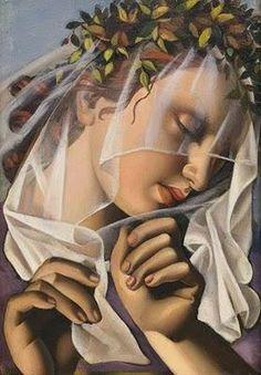 Tamara de Lempicka (Polish - (Tamara Rosalia Gurwik-Gorska) La Couronne de Fleurs II, 1932 ~Repinned Via Carmencita.sp