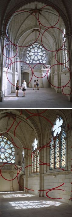optical illusiion by Felice Varini