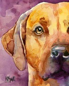 LOVE - watercolor & puppy!