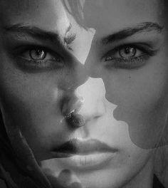 #photography #blackandwhite #dubleexposure #perspective #multiply #multiplylayer #layers #sadness #mystery #confused #worry #depressed #inhereyes #inhiseyes #eyes by jamesoya