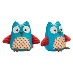 These are a little unsophisticated for the living room, but we've got a toddler running around in there! Skip Hop Zoo Toddler Bookends - Owl