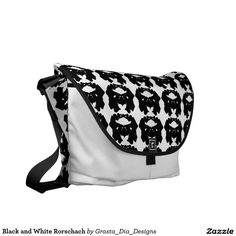 Black and White Rorschach Messenger Bags