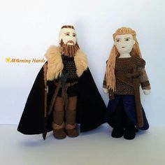 https://www.facebook.com/MorningHandsRagnar & Lagertha From Vikings seriessize of dolls around 25cm x 7cm#morninghands #Ragnar #Lagertha #Vikings #vikingsseries #crochet #crochetdoll #amigurumi #handmade #crocheting #knitting #figurine #amigurumidoll #كروشية