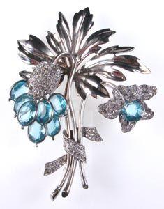 pennino sterling large floral brooch