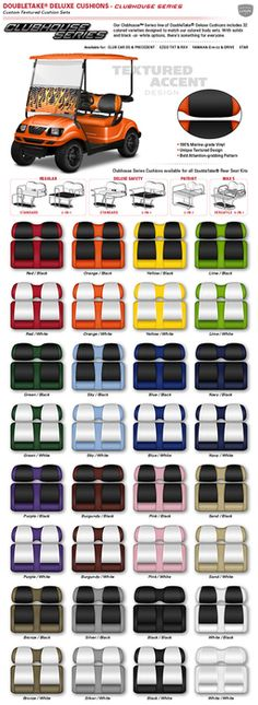 Envy Series: Clubhouse Seats triad golf carts
